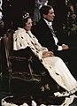 Troonswisseling 30 april inhuldiging in Nieuwe Kerk Koningin Beatrix en Prin, Bestanddeelnr 253-8195.jpg