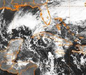Tropical Depression Fourteen (1987) - A disorganized Tropical Depression Fourteen near Cuba