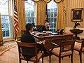 Trump talks to Merkel in Oval Office.jpg