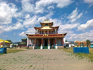 Ivolginsky Datsan - Tsogchen-dugan. The main cathedral church of the Ivolginsky datsan