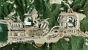 Fugen Nuclear Power Plant - The Tsuruga NPP and Fugen NPP together in the same image