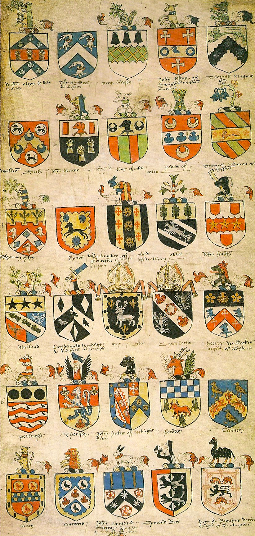 Tudor Roll of arms, Sir Thomas Wriothesley