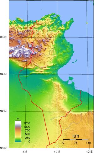 Mareth Line - Image: Tunisia Topography