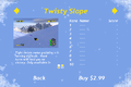 Tux Racer for Android screenshot, select course menu (Twisted Slope).png