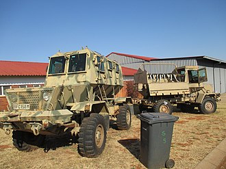 SAMIL Trucks - Rhino (left) and Bulldog (right) of the South African military, Swartkop Air Force Base.