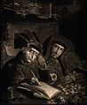 Two Jews counting their money, the one writing the ledger we Wellcome V0015823.jpg