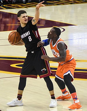 Tyler Johnson (basketball) - Johnson playing for the Heat in 2016