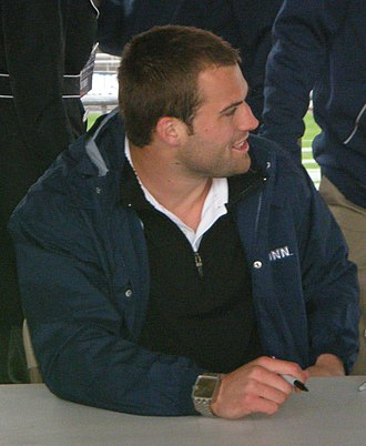 Tyler Lorenzen - Tyler Lorenzen signing autographs at the 2010 UConn spring game at Rentschler Field.