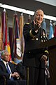 U.S. Army Gen. Keith B. Alexander delivers remarks during his retirement ceremony March 28, 2014, at the National Security Agency (NSA) at Fort George G. Meade, Md 140328-D-EV637-808.jpg