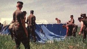 Kurdish refugees - U.S. Marines construct a refugee camp to house Kurdish refugees, 1997