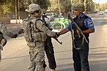 U.S. Soldiers, Iraqi police Conduct, Assess Checkpoint DVIDS110408.jpg