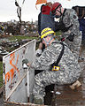 U.S. Soldiers with the 63rd Civil Support Team, Oklahoma Army National Guard conduct search and rescue operations May 21, 2013, in Moore, Okla 130521-Z-BB392-214.jpg