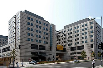 Medical centers in the United States - UCLA Ronald Reagan Medical Center, from the south-west looking across Westwood Bl.