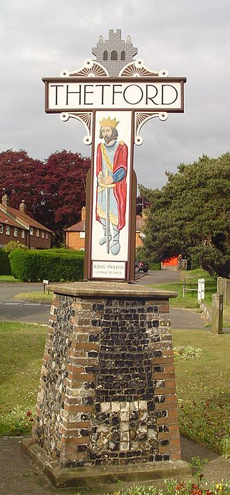 Thetford - Town sign