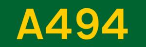 A5117 road - Image: UK road A494