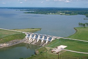 Navarro County, Texas - Navarro Mills Lake and Dam