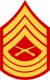 three chevrons up and three down with crossed rifles