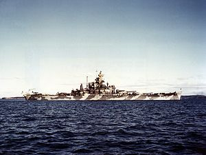 Alabama in Casco Bay, Maine circa December 1942