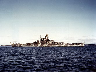 South Dakota-class battleship (1939) - Alabama in Casco Bay, Maine circa December 1942