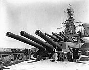 USS California (BB-44) after turrets