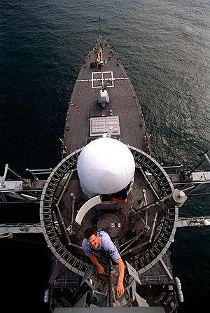 USS Carney - Carney from near the masthead