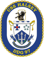 USS Halsey DDG-97 Crest