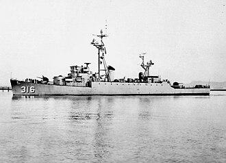 USS Harveson (DE-316) - USS Harveson DER-316 1951