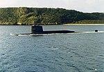 USS Patrick Henry (SSBN-599) underway off Guam 1976.jpg