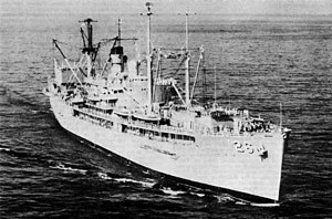 USS Shenandoah (AD-26) off Italy in July 1973