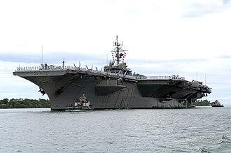 Naval architecture - The aircraft carrier USS ''Kitty Hawk'' (CV-63) at Naval Station Pearl Harbor