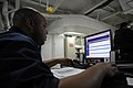 US Navy 090714-N-4995K-021 Personnel Specialist Seaman Terrence Oliver browses the Navy e-learning web site while underway aboard the aircraft carrier USS Ronald Reagan (CVN 76).jpg