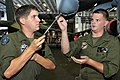 US Navy 110625-N-ER662-139 Lance Cpl. Kevin Caudell, left, and Lance Cpl. Andrew Shultz, both assigned to Marine Attack Squadron (VMA) 214, perform.jpg