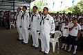 US Navy 110901-N-ZI300-106 Sailors assigned to the guided-missile frigate USS Thach (FFG 43) participate in the opening ceremonies of the El Salvad.jpg