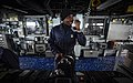 US Navy 171101-N-UY653-076 Seaman mans the helm of USS Oscar Austin.jpg