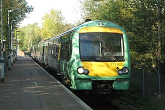 Uckfield railway station - Image: Uckfield GTSR Southern 171802 Oxted service
