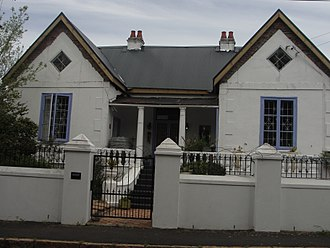 Asbestos and the law - A Victorianised house in Wynberg, Cape Town with an asbestos cement roof in 2014