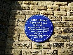 Photo of John Henry Poynting blue plaque