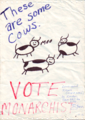 University of Maryland Monarchist Party Campaign Poster circa 1985.png