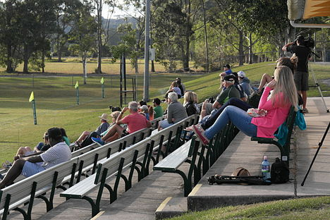 University v Maroochydore July 5, 2014 grand stand crowd.jpg