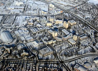 Calgary School - Aerial view of the university campus.