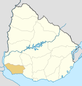 Uruguay Colonia map.svg