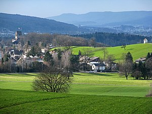 Glatt Valley - The upper Glatt Valley as seen from Uster-Nossikon (March 2010)