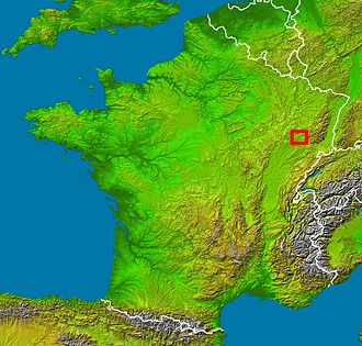 Vôge Plateau - Location of the Voge in France