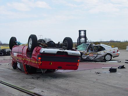 Aftermath Of A Compatibility Test Involving 2001 Dodge Ram 1500 And 1997 Honda Accord