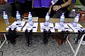VIP boards and Kavalan Water bottles at Walk of Fame registration 20181006.jpg