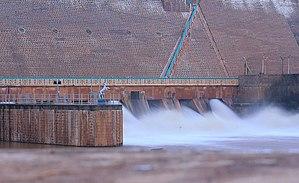 Vaigai Dam - Image: Vaigai dam close up