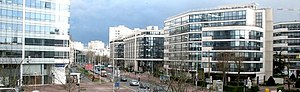 Issy-les-Moulineaux - The Rue Rouget de Lisle in the Val de Seine business district