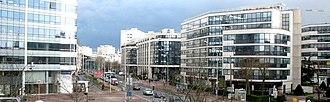 Boulogne-Billancourt - View from Issy – Val de Seine RER C station in the Val de Seine business district.