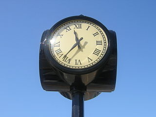 clock on pole