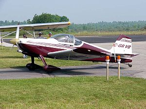Van's Aircraft RV-6 - A RV-6 taxiing at the Brockville Ontario fly-in June 2005. This aircraft has the earlier design forward-hinged canopy